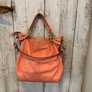 Coach leather coral bag